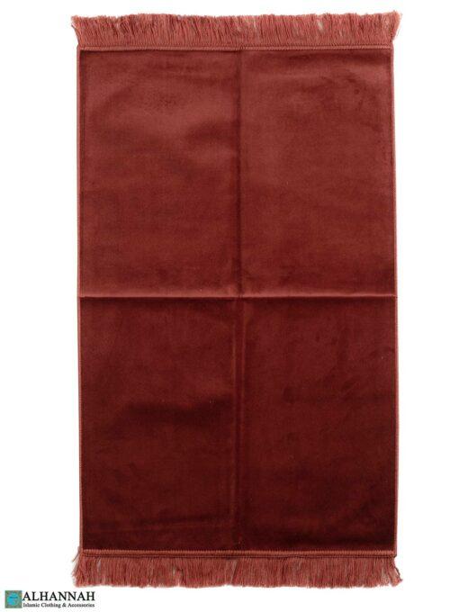 Solid Color Prayer Rug - Paprika