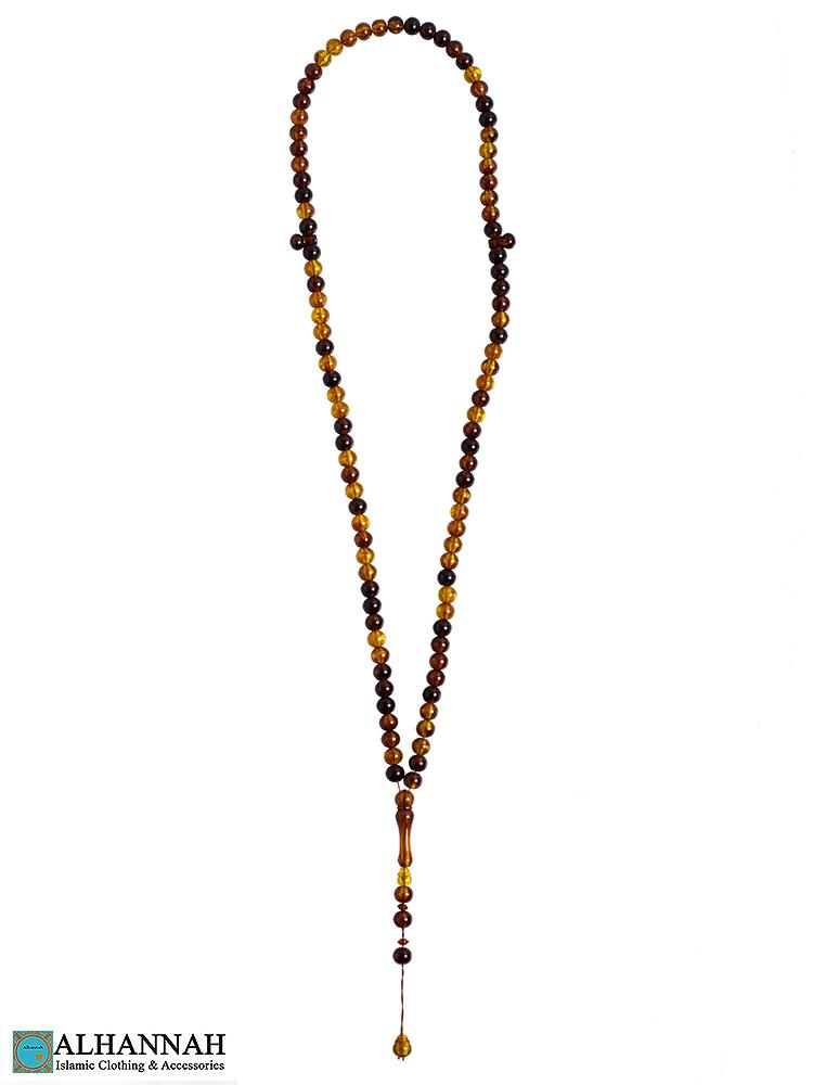 Tortoise Shell Tasbih Beads - 99 Bead set