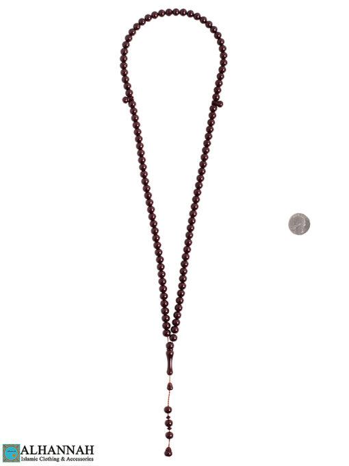 Tasbih Beads - 99 mahogany Bead set 2