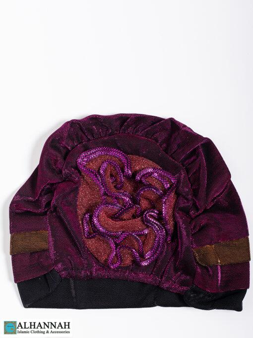 Cap Style Underscarf Berry Black