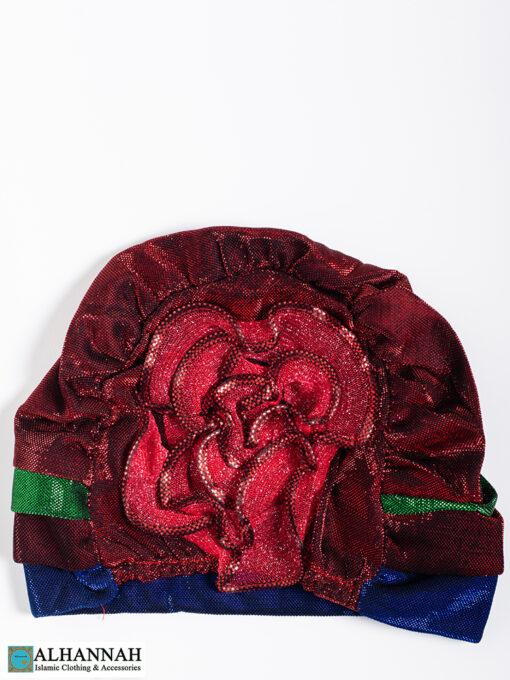 Cap Style Underscarf Ruby Blue