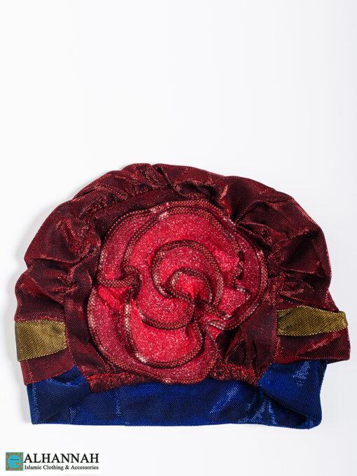 Cap Style Underscarf-Strawberry Blue