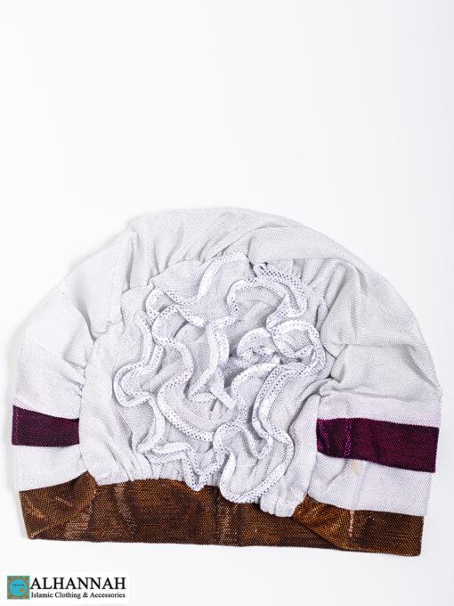 Cap Style Underscarf White Bronze