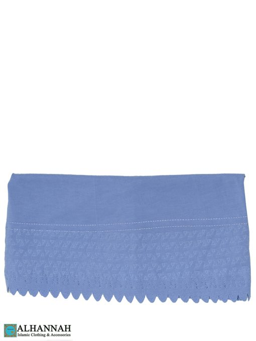 Scalloped Edge Underscarf French blue