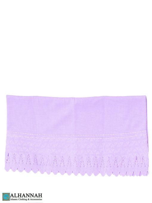 Scalloped Edge Underscarf Lilac
