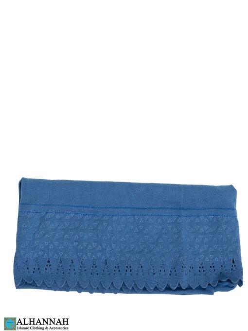Scalloped Edge Underscarf Persian Blue