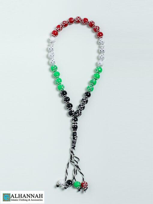 Tasbih Beads Palestinian Colors