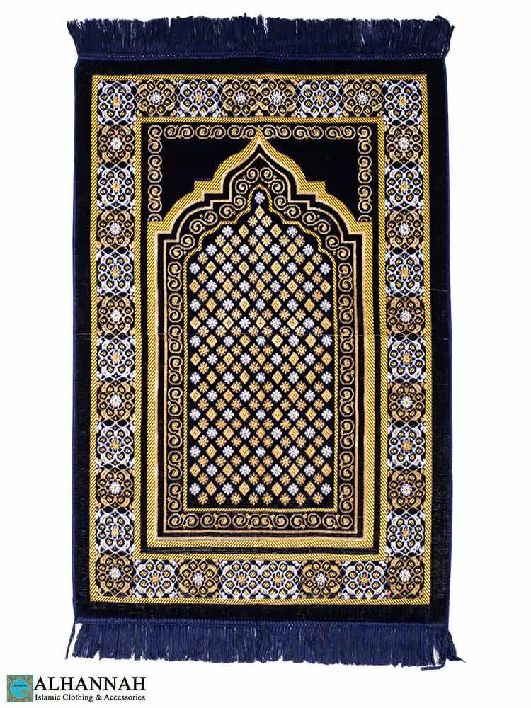 Midnight Blue Turkish Prayer Rug