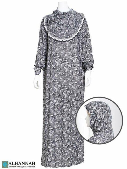 One Piece Prayer Outfit Sparkle Scroll Print