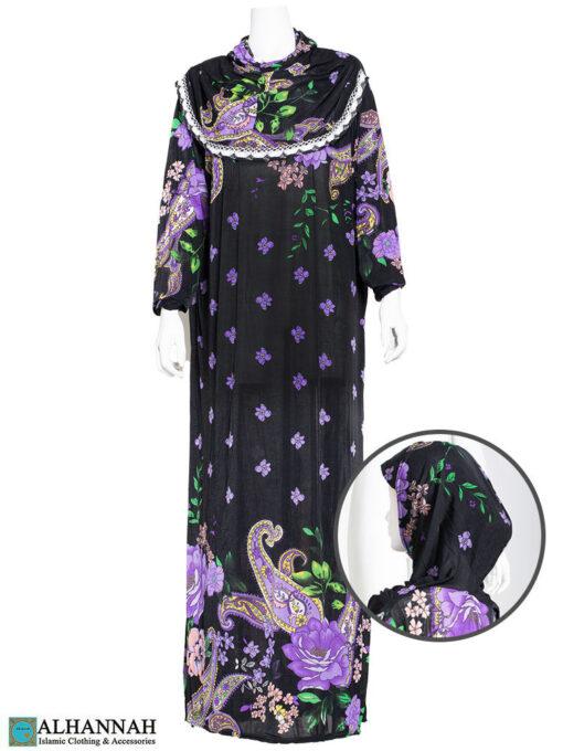 One Piece Prayer Outfit Purple Paisley
