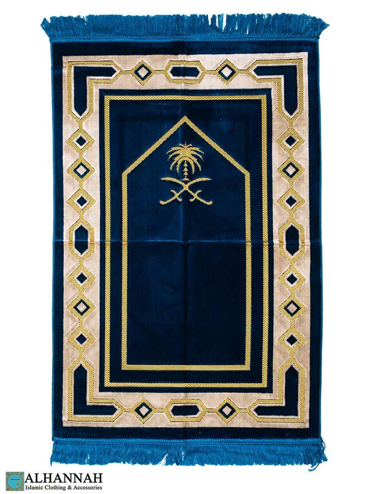 Prayer Rug Saudi Double Swords Blue