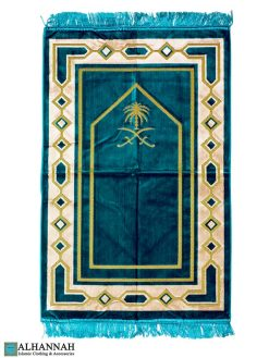Prayer Rug Saudi Double Swords Teal