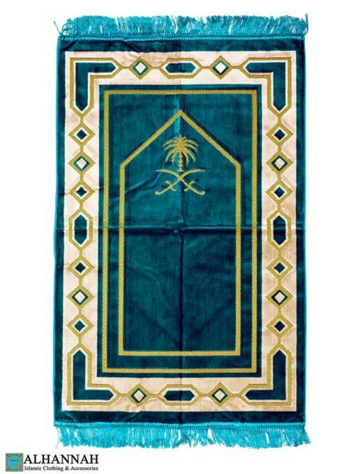 Prayer Rug Saudi Double Swords Teal
