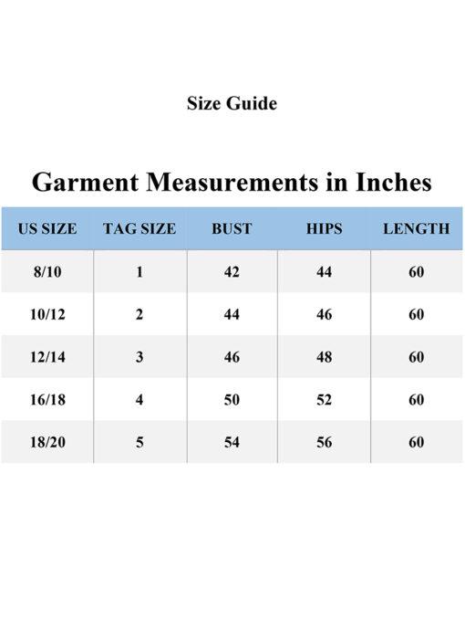 Size Guide Black Abaya - 757