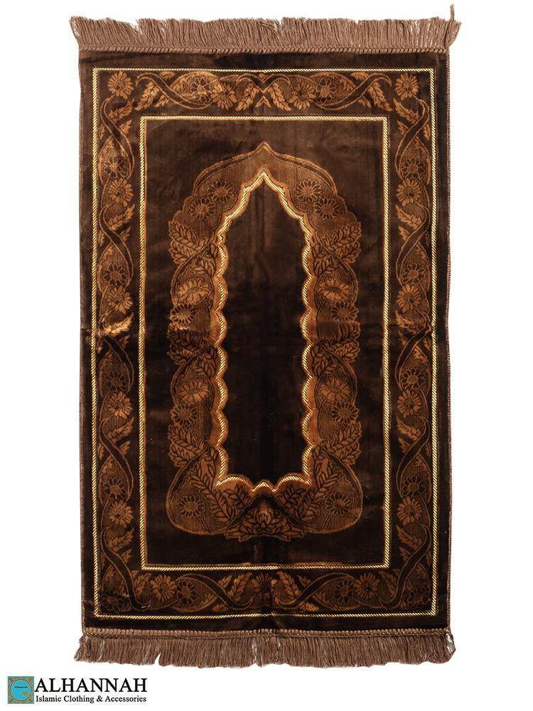 Turkish Prayer Rug Chocolate