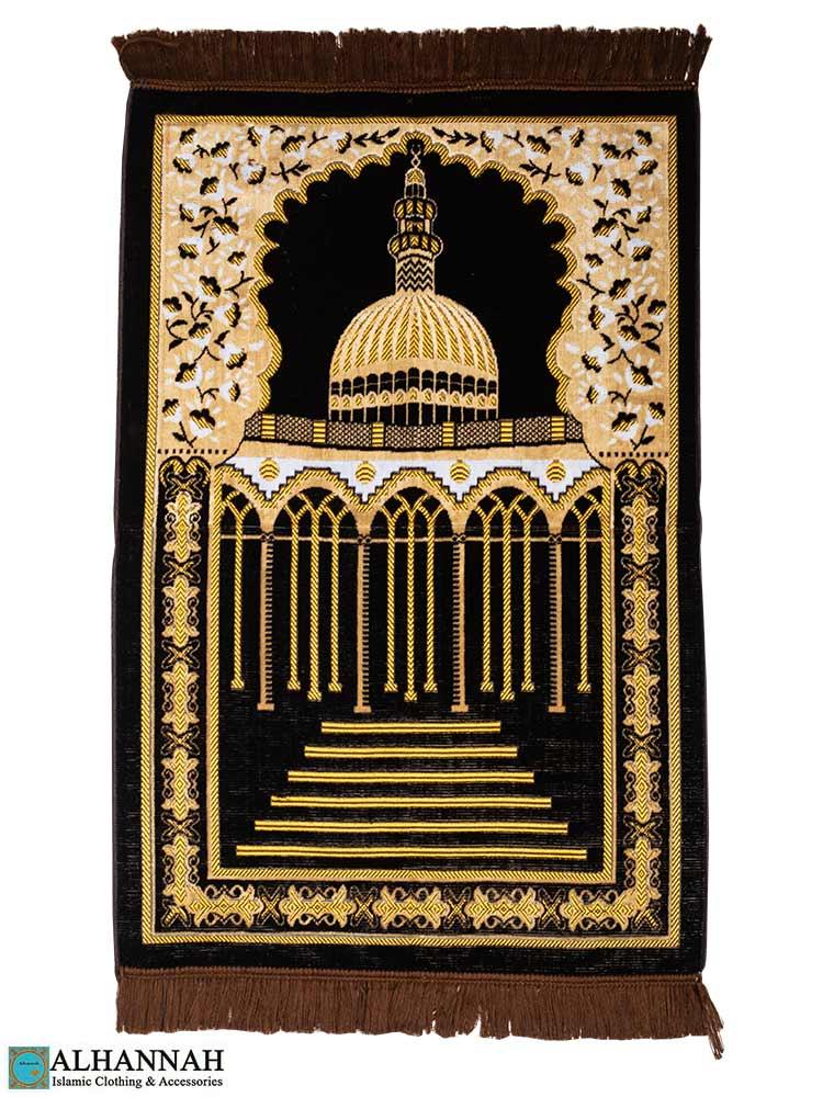 Turkish Prayer Rug Featuring Mosque Motif