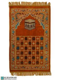 Turkish Prayer Rug Golden Orange