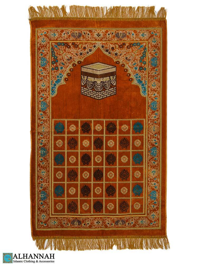 Turkish Prayer Rug Golden Orange