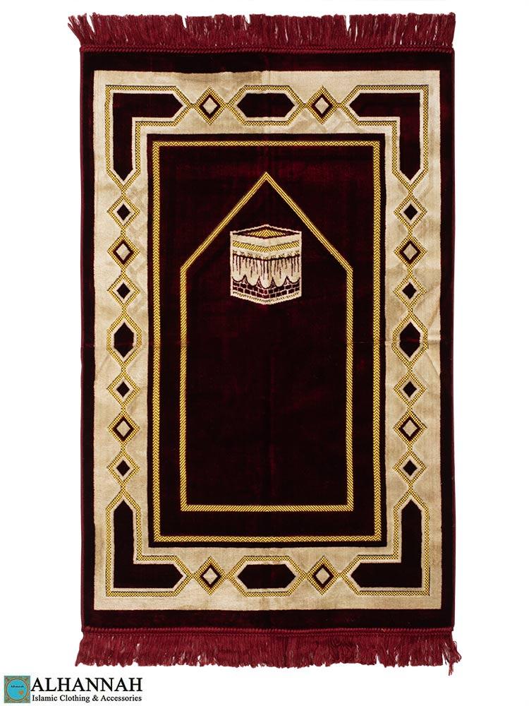 Turkish Prayer Rug Kaaba Motif Red