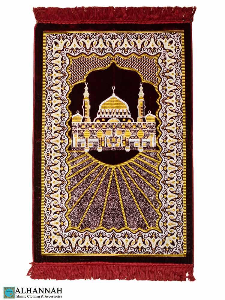 Turkish Prayer Rug with Al Masjid An Nabawi