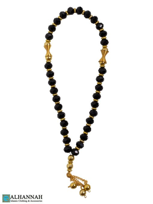 Crystal Tasbih Beads - Black
