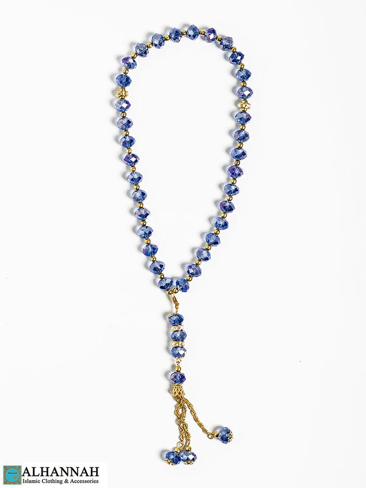 Crystal Tasbih Beads Blue