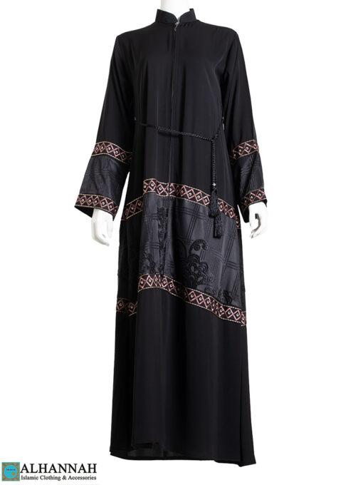 Multimedia Embroidered Abaya