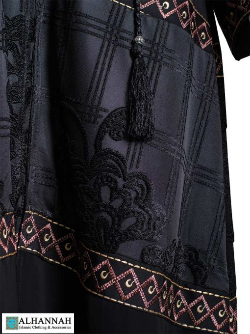 Multimedia Embroidered Abaya Detail