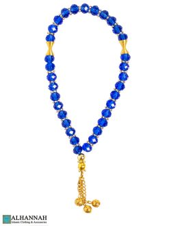 Sapphire Crystal Tasbih Beads
