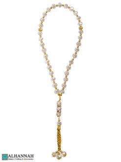 Tasbih Beads Clear Crystal