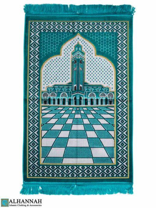 Islamic Prayer Rug Minaret Motif
