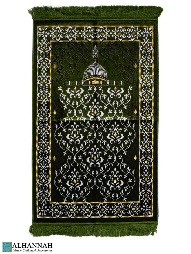 Islamic Prayer Rug Scrolling Vines design