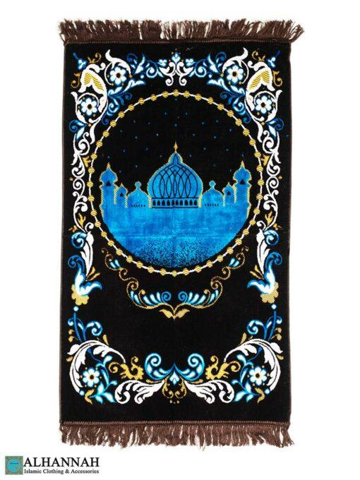 Deluxe Islamic Prayer Rug Chocolate