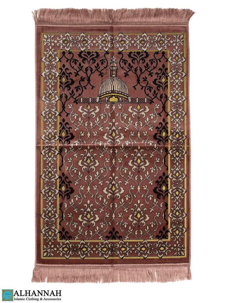 Islamic Prayer Rug Scrolling Vines Dusty Rose