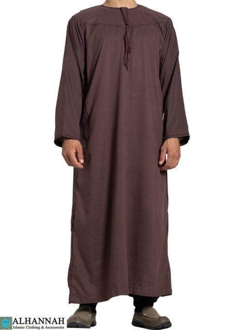 Yemeni Thobe with Tassels - Brown