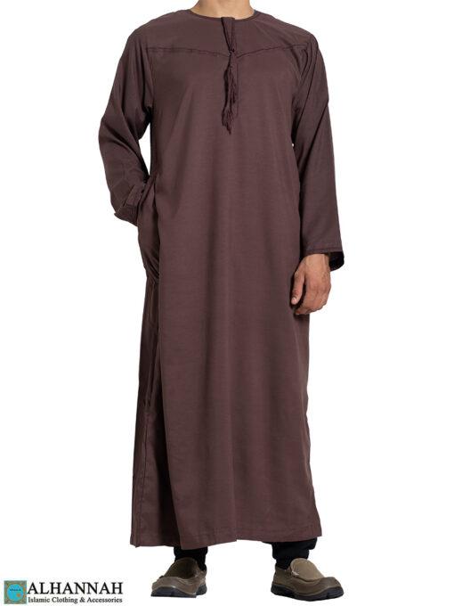 Yemeni Thobe with Tassels - Brown- 2