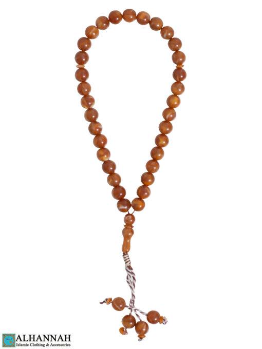 Caramel Tasbih Beads - 33
