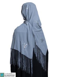 Chiffon Rectangle Hijab Classic Grey