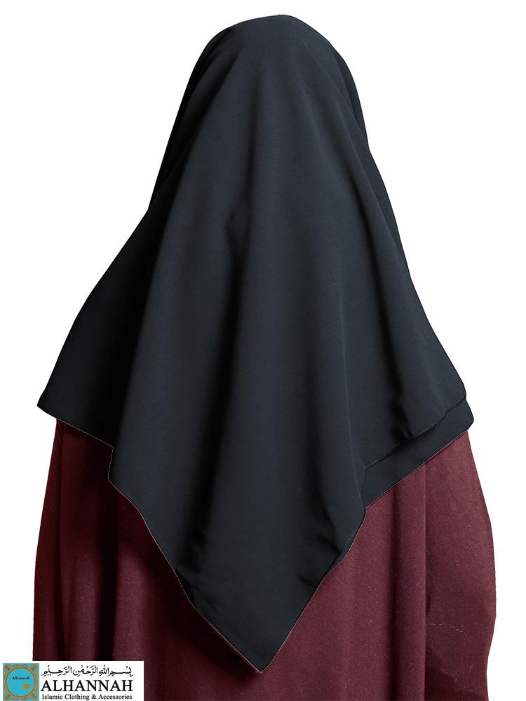 Chiffon Square Hijab Saudi Black