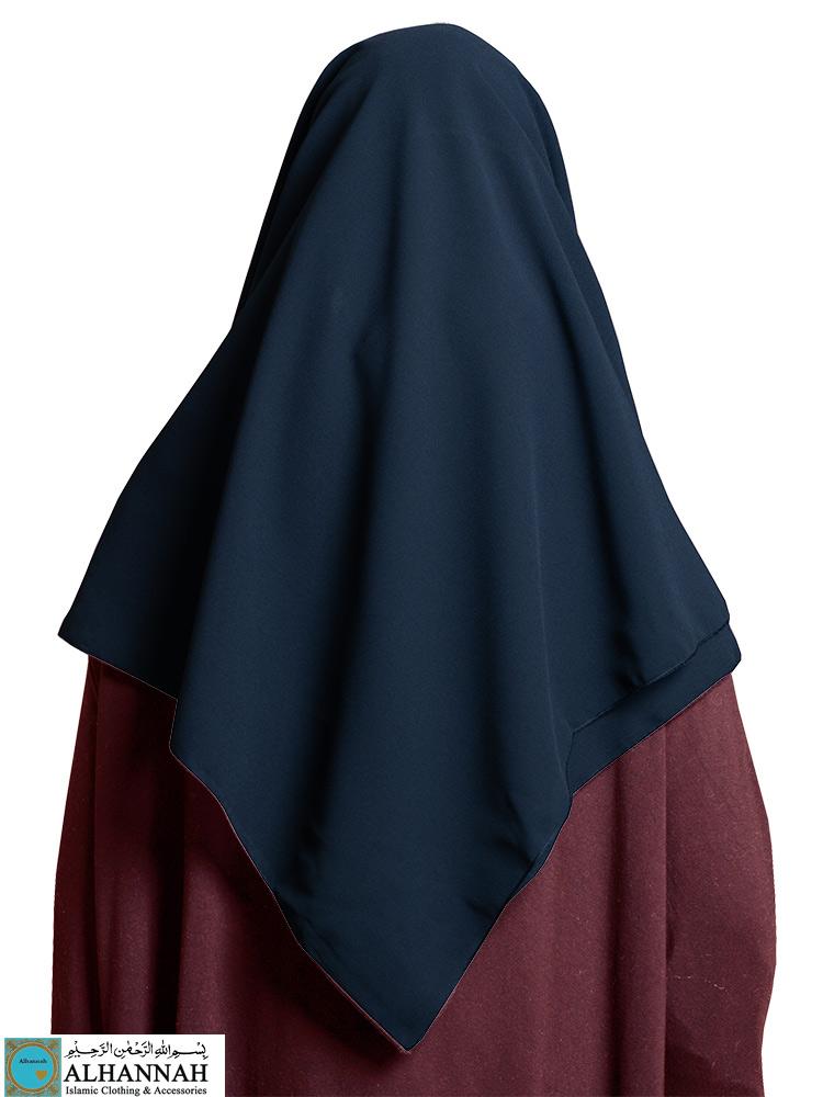 Oversize Chiffon Square Hijab Navy