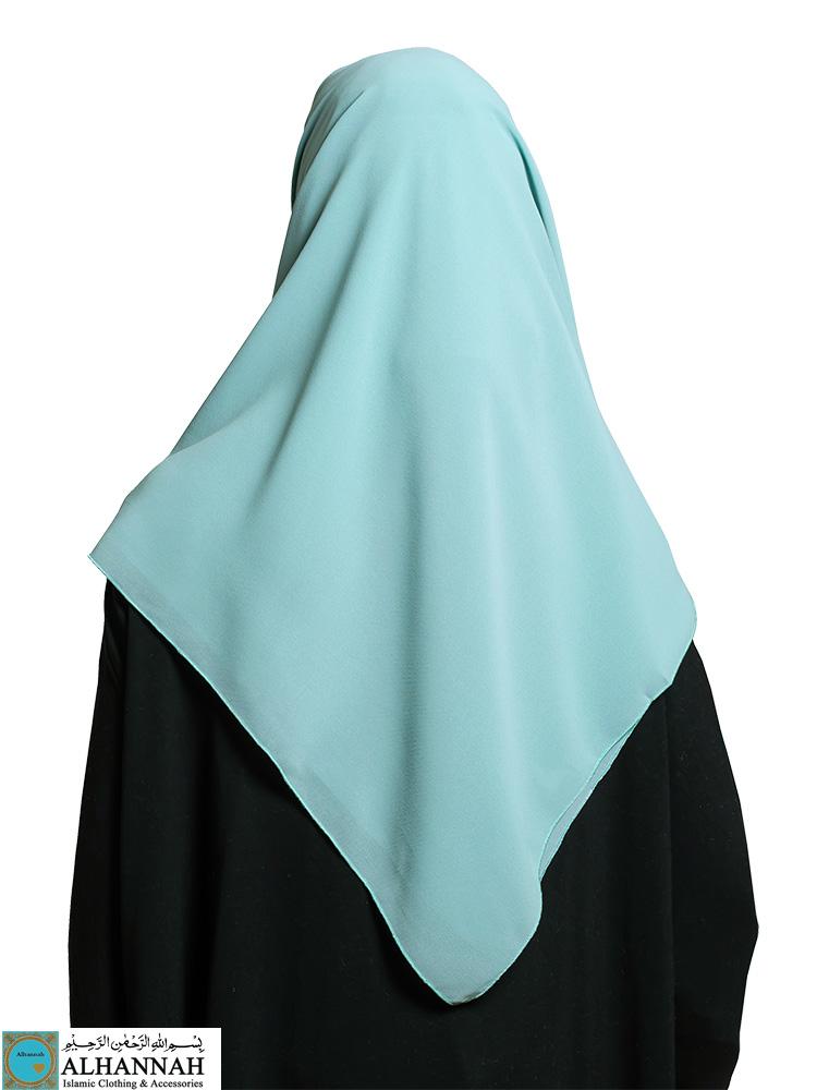 Oversize Square Hijab Aqua MIst