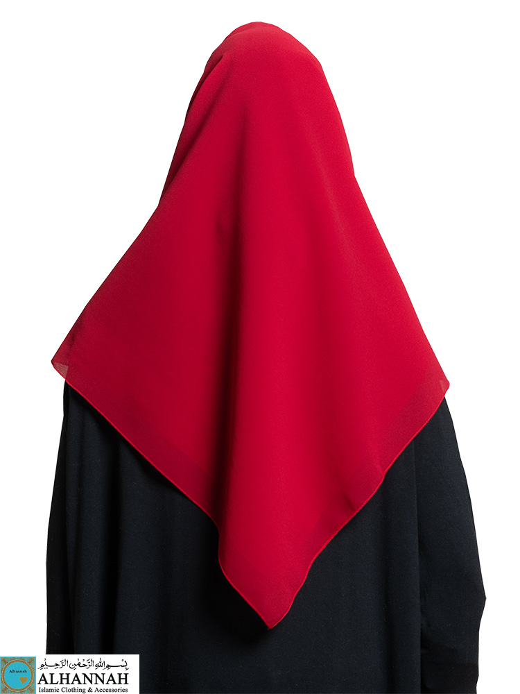 Oversize Square Hijab in Candy Apple