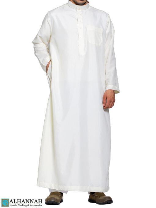 Saudi Thobe Ivory Pocket