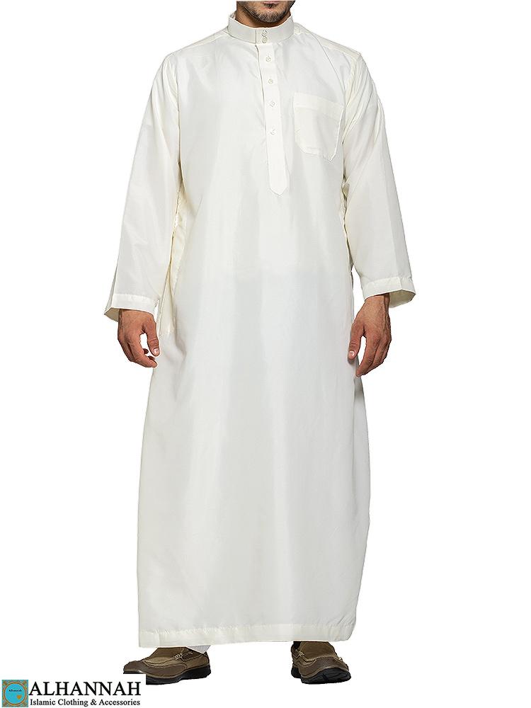 Saudi Thobe in Ivory