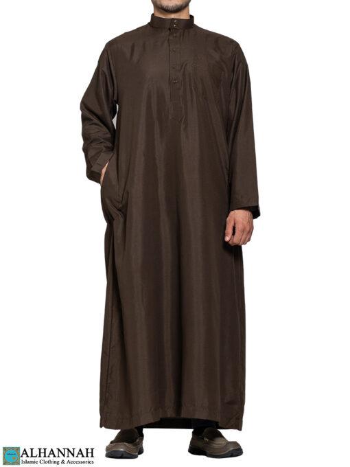 Saudi Thobe in Brown 3 pockets