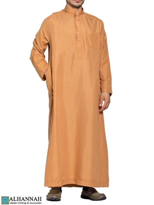 Saudi Thobe in Camel 3 Pockets