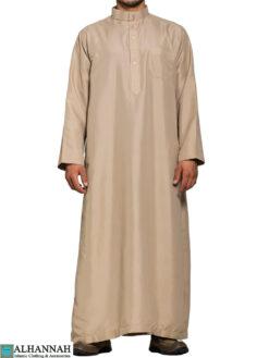 Saudi Thobe in Desert Tan