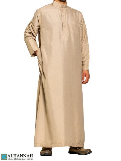 Saudi Thobe in Desert Tan with 3 Pockets