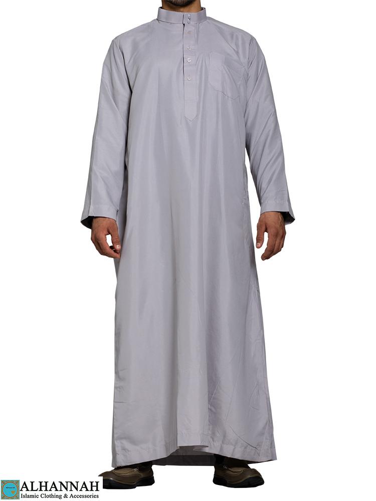 Saudi Thobe in Classic Grey