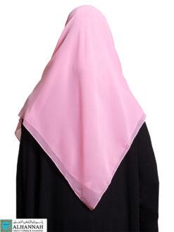 Square Chiffon Hijab Carnation